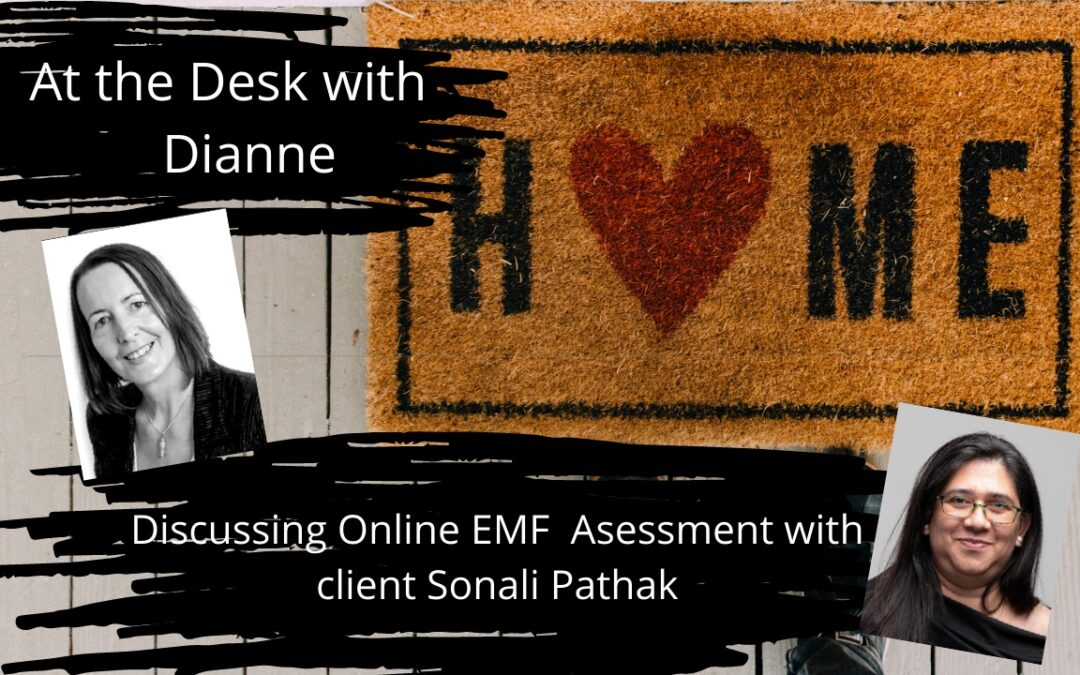 Discussing Online EMF Assessments with client Sonali Pathak